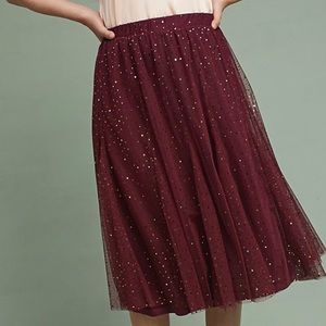 HD in Paris |  Everly Tulle Midi Skirt | Burgundy